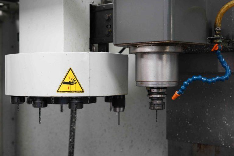 Close up of Haas TM-3P CNC Machine.